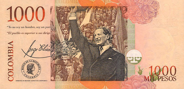 1 Colombian Peso Dollar