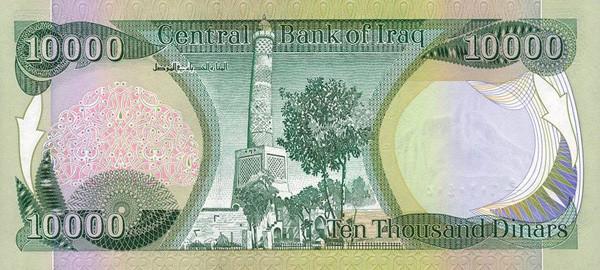 Iraqi dinar currency chart
