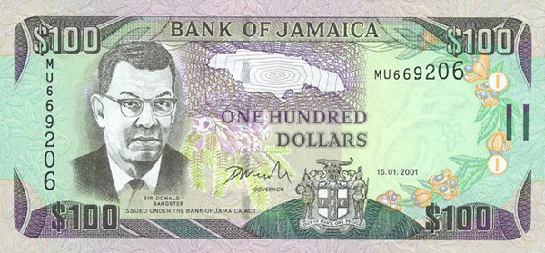 Colour Pink Front The Right Excellent Samuel Sharpe National Hero Rear Doctor S Cave Beach Value In Us 0 48 Denomination 100 Dollars