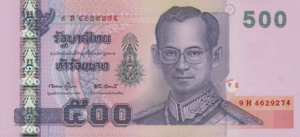 Thb 500 Thai Bahts How Does Thailand Earn More