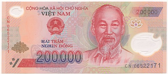 Vietnam 200,000 Dong Currency VND Banknote
