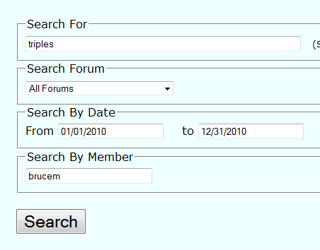 Forum Search Options