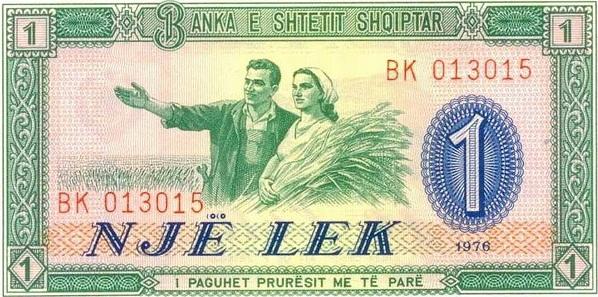 1 Albanian lek ALL