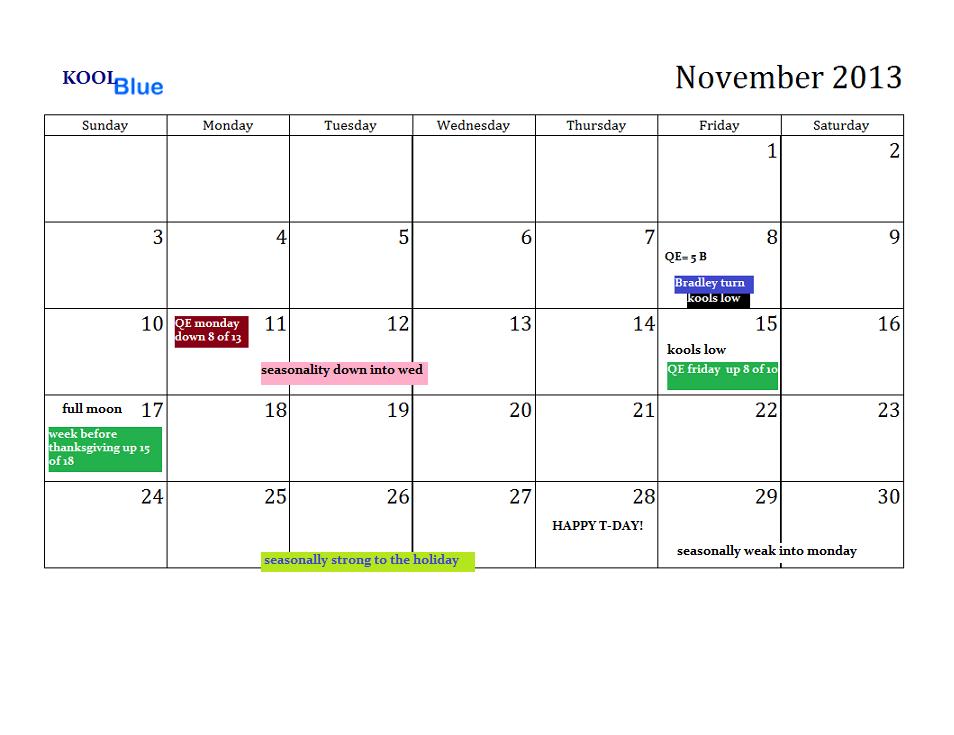 11 november 2013 calendar
