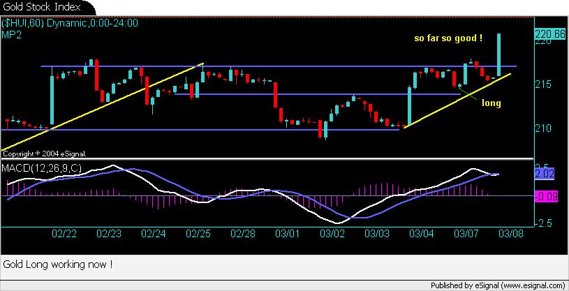 Gold Stock Index
